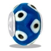 Blue/Black/White Dotted Bead