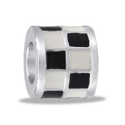 TRUNK SALE *No Further Discount* Black and White Checker Bead