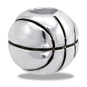 Basketball Bead - TRUNK SALE, NO FURTHER DISCOUNT