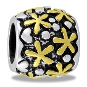 Gold Daisy Bead- TRUNK SALE - No Further Discount