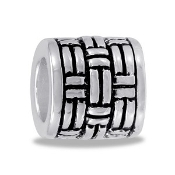 Decorative Basket Weave Bead - TRUNK SALE NO FURTHER DISCOUNTS