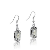 DaVinci Rectangular CZ Earrings