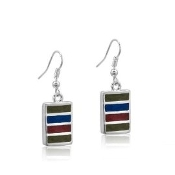 DaVinci Warm Striped Earrings