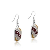 DaVinci Oval Dangles with Crystals