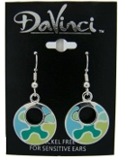 DaVinci Green and Blue Dangle Earrings