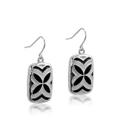 DaVinci Butterfly Black and Silver Earring