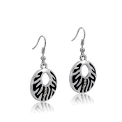DaVinci Zebra Earrings with Crystals