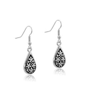 DaVinci Silver Floral Earrings