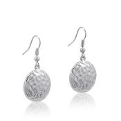 DaVinci Round Hammered Earrings