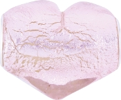 Large Pink Foil Heart Bead by Amanda Blu