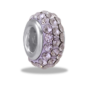 April Slim Pave Bead by DaVinci