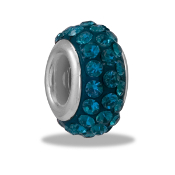 December Slim Pave Bead by DaVinci