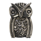 Owl Silver Plated Bead by Amanda Blu