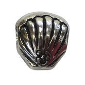 Clam Shell Silver Plated Bead by Amanda Blu