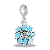 Flower Crystal Bead - Tiffany Blue TRUNK SALE, NO FURTHER DISCOU