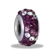 Purple Dimensional Slim Pave Bead by DaVinci