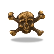 Skull and Cross Bones Charm For Lockets