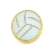 Volleyball Charm For Lockets