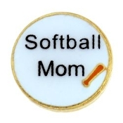 SOFTBALL MOM Charm For Lockets