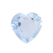 3- March Heart Birthstone Charm For Lockets