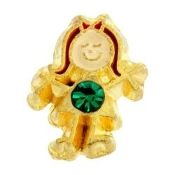 5- May Girl Birthstone Charm For Lockets