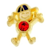 7- July Boy Birthstone Charm For Lockets