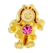 10- October Girl Birthstone Charm For Lockets