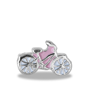 Pink Cycle Charm For Lockets