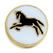 Horse On Circle Charm TRUNK SALE, NO FURTHER DISCOUNT