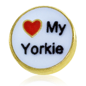 LOVE MY YORKIE Charm For Lockets