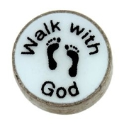 WALK WITH GOD Charm For Lockets