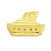 Cruise Ship (Gold) Charm TRUNK SALE, NO FURTHER DISCOUNT