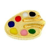 Paint Pallet Charm For Lockets