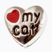 LOVE MY CAT Charm For Lockets
