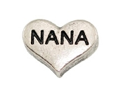 NANA Silver Heart Charm For Lockets