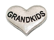 GRANDKIDS Silver Heart Charm For Lockets