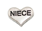 NIECE Silver Heart Charm For Lockets
