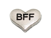 BFF Silver Heart Charm For Lockets