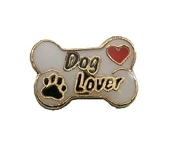 DOG LOVER on Bone Charm For Lockets