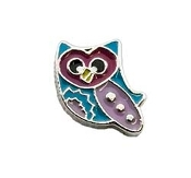 Colorful Owl Charm for Lockets