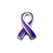 Alzheimers Ribbon Charm for Lockets