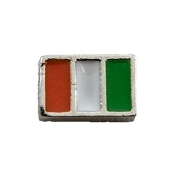 Italian Flag Charm for Lockets