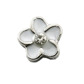 White Flower Charm for Lockets