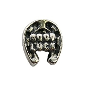 GOOD LUCK Silver Horseshoe Charm For Lockets