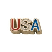 USA Red, White, and Blue Charm for Lockets