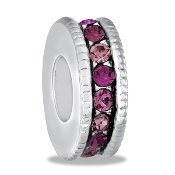 Pink and Purple Slim Crystal Wheel Bead By DaVinci®