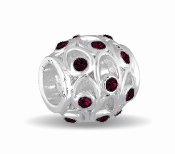 JANUARY Crystal Orb Decorative Birthstone Bead by DaVinci®