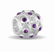FEBRUARY Crystal Orb Decorative Birthstone Bead by DaVinci®