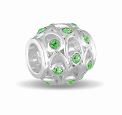 AUGUST Crystal Orb Decorative Birthstone Bead by DaVinci®