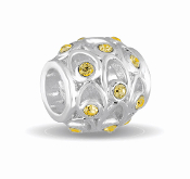 NOVEMBER Crystal Orb Decorative Birthstone Bead by DaVinci®